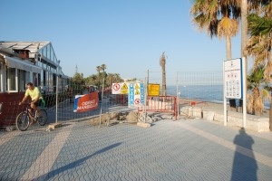 Work on San Pedro boardwalk